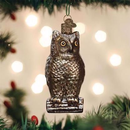 Picture of Old World Christmas Vintage Wise Old Owl