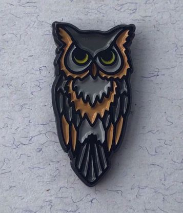 Picture of Enamel Great Horned Owl Pin